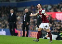 26th December 2019; Goodison Park, Liverpool, Merseyside, England; English Premier League Football, Everton versus Burnley; Phillip Bardsley of Burnley shows his frustration - Strictly Editorial Use Only. No use with unauthorized audio, video, data, fixture lists, club/league logos or 'live' services. Online in-match use limited to 120 images, no video emulation. No use in betting, games or single club/league/player publications