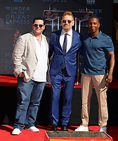 Josh Gad, Kenneth Branagh &amp; Leslie Odom Jr. at the hand &amp; footprint ceremony for Kenneth Branagh at the TCL Chinese Theatre, Hollywood. Los Angeles, USA 26 October  2017<br /> Picture: Paul Smith/Featureflash/SilverHub 0208 004 5359 sales@silverhubmedia.com