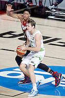 Slovenia's Zoran Dragic (f) and USA's Anthony Davis during 2014 FIBA Basketball World Cup Quarter-Finals match.September 9,2014.(ALTERPHOTOS/Acero)