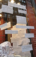 NEW YORK, NY - OCTOBER 27:  Pro-Hillary Clinton, Anti-Donald Trump U.S. presidential election-themed window display at Fish Eddy house wears store in the Flatiron district in New York, New York on October 27, 2016.  Photo Credit: Rainmaker Photo/MediaPunch