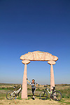 Israel, Negev, a sculpture in Beeri forest