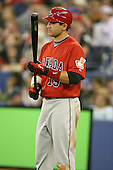 March 7, 2009:  Designated Hitter Joey Votto (19) of Canada during the first round of the World Baseball Classic at the Rogers Centre in Toronto, Ontario, Canada.  Team USA defeated Canada 6-5 in both teams opening game of the tournament.  Photo by:  Mike Janes/Four Seam Images