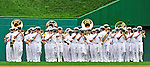 26 September 2010: The U.S. Navy Band enters the field for pre-game ceremonies prior to a game between the Washington Nationals and the Atlanta Braves at Nationals Park in Washington, DC. The Nationals defeated the pennant-seeking Braves 4-2 to take the rubber match of their 3-game series. Mandatory Credit: Ed Wolfstein Photo