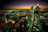 Looking west from the center of downtown. Dallas Texas USA.
