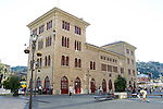 Estella-Lizarra.Navarra.Espana..Estella-Lizarra.Navarra.Spain..Estacion de autobusesy Plaza Coronacion..Bus Station and Coronation Square..(ALTERPHOTOS/Alfaqui/Acero)