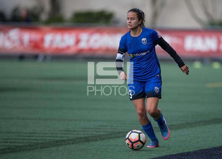 Seattle, WA - Saturday July 15, 2017: Lauren Barnes during a regular season National Women's Soccer League (NWSL) match between the Seattle Reign FC and the Boston Breakers at Memorial Stadium.