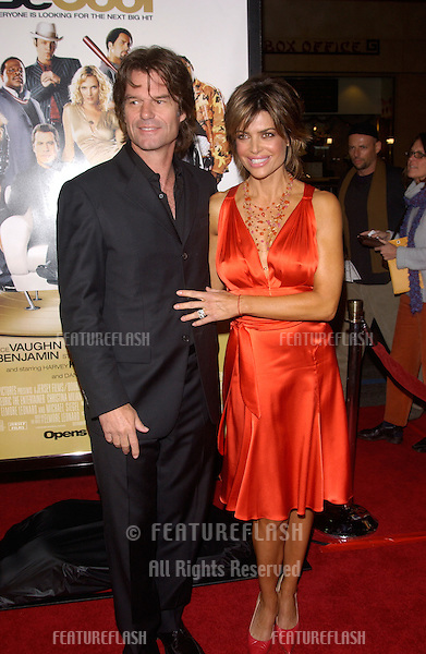 Feb 14, 2005; Los Angeles, CA: Actress LISA RINNA & husband actor HARRY HAMLIN at the world premiere of Be Cool, at the Grauman's Chinese Theatre, Hollywood.