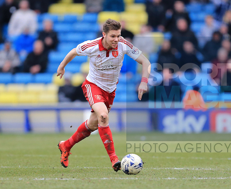 Sheffield United's Dean Hammond in action during the League One match at The Den.  Photo credit should read: David Klein/Sportimage