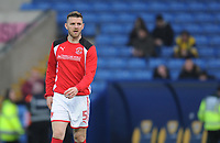 Fleetwood Town's Ashley Eastham during the pre-match warm-up <br /> <br /> Photographer Kevin Barnes/CameraSport<br /> <br /> The EFL Sky Bet League One - Oxford United v Fleetwood Town - Tuesday 10th April 2018 - Kassam Stadium - Oxford<br /> <br /> World Copyright &copy; 2018 CameraSport. All rights reserved. 43 Linden Ave. Countesthorpe. Leicester. England. LE8 5PG - Tel: +44 (0) 116 277 4147 - admin@camerasport.com - www.camerasport.com
