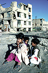 Children playing among the rubble on July 25, 1996 in central Kabul, Afghanistan. The Taliban took over most of Afghanistan in 1996, and have forced the people to live under strict muslim sharia law. Girls are not allowed to attend schools and women are not allowed to work. .(Photo: Per-Anders Pettersson/Liaison Agency)