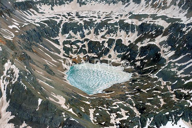 Mountain Lake in Spring. San Juan Mountains near Telluride, Colorado.  June 2013.