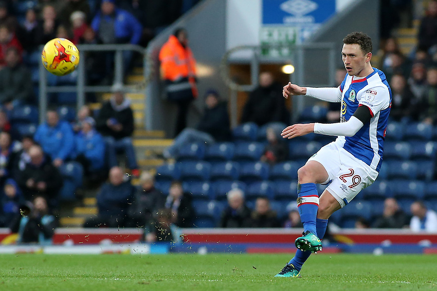 Blackburn Rovers' Corry Evans in action during todays match  <br /> <br /> Photographer David Shipman/CameraSport<br /> <br /> The EFL Sky Bet Championship - Blackburn Rovers v Huddersfield Town - Saturday 3rd December 2016 - Ewood Park - Blackburn<br /> <br /> World Copyright &copy; 2016 CameraSport. All rights reserved. 43 Linden Ave. Countesthorpe. Leicester. England. LE8 5PG - Tel: +44 (0) 116 277 4147 - admin@camerasport.com - www.camerasport.com