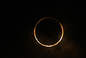 "May 21, 2012, Osaka, Japan - The Annular solar eclipse is seen in Yokohama, near Tokyo, Japan on May 21, 2012. An annular solar eclipse was observed over a wide area of Japan on Monday early morning. Millions of people watched as a rare ""ring of fire"" eclipse crossed the skies. (Photo by Katsuro Okazawa/AFLO) -ty-"