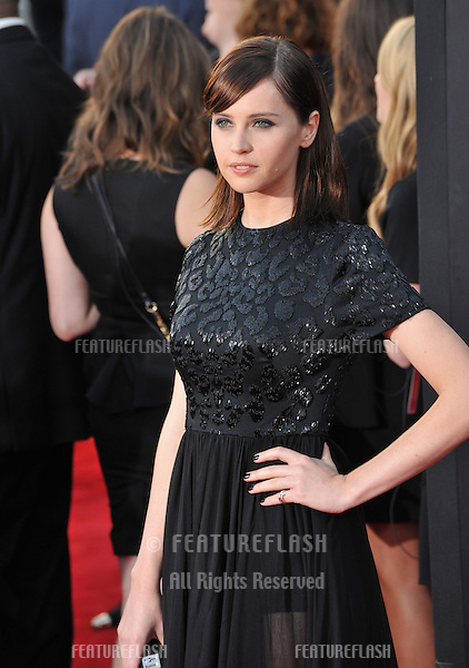 Felicity Jones at the 2014 Hollywood Film Awards at the Hollywood Palladium.<br /> November 14, 2014  Los Angeles, CA<br /> Picture: Paul Smith / Featureflash