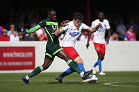 Matt Robinson of Dagenham and Redbridge and Gus Mafuta of Hartlepool United during Dagenham & Redbridge vs Hartlepool United, Vanarama National League Football at the Chigwell Construction Stadium on 14th September 2019
