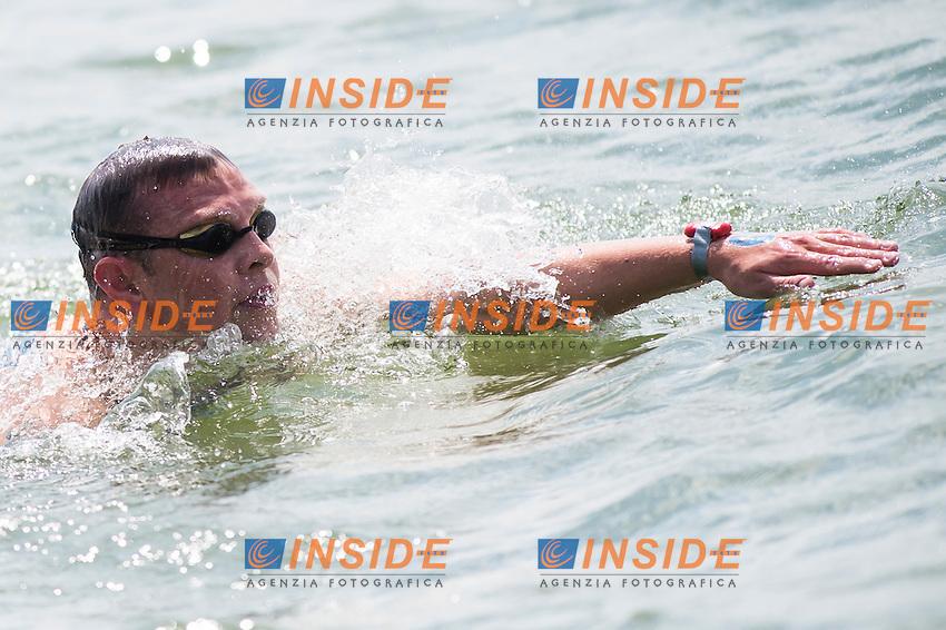 BRYAN Christopher IRL<br /> Hoorn, Netherlands <br /> LEN 2016 European Open Water Swimming Championships <br /> Open Water Swimming<br /> Men's 5km<br /> Day 02 12-07-2016<br /> Photo Giorgio Perottino/Deepbluemedia/Insidefoto