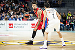 Real Madrid Facundo Campazzo and CSKA Moscow Daniel Hackett during Turkish Airlines Euroleague match between Real Madrid and CSKA Moscow at Wizink Center in Madrid, Spain. November 29, 2018. (ALTERPHOTOS/Borja B.Hojas)