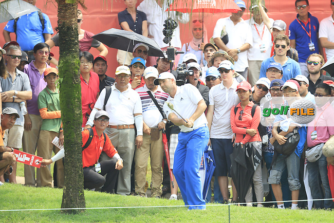 Sergio Garcia (ESP) on the 14th during Round 4 of the CIMB Classic in the Kuala Lumpur Golf &amp; Country Club on Sunday 2nd November 2014.<br /> Picture:  Thos Caffrey / www.golffile.ie