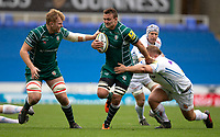 London Irish's Jake Schatz in action during todays match<br /> <br /> Photographer Bob Bradford/CameraSport<br /> <br /> Aviva Premiership Round 20 - London Irish v Exeter Chiefs - Sunday 15th April 2018 - Madejski Stadium - Reading<br /> <br /> World Copyright &copy; 2018 CameraSport. All rights reserved. 43 Linden Ave. Countesthorpe. Leicester. England. LE8 5PG - Tel: +44 (0) 116 277 4147 - admin@camerasport.com - www.camerasport.com