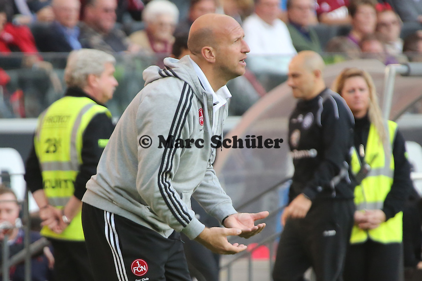 Interimstrainer Roger Prinzen (Nürnberg) - Eintracht Frankfurt vs. 1. FC Nuernberg,