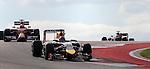 Formula 1 United States Grand Prix 2014, 31.10.-02.11.14<br /> Sebastian Vettel (GER#1), Infiniti Red Bull Racing, Kimi Raikkonen (FIN#7), Scuderia Ferrari<br /> Foto &copy; nordphoto /  Bratic