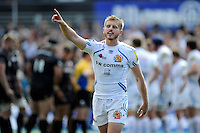 Gareth Steenson of Exeter Chiefs gives instructions as they defend their line to the final whistle