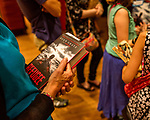 July 26, 2017. Raleigh, North Carolina.<br /> <br /> Many attendees bought copies of Alan Gratz's new book &quot;Refugee&quot; and waited in line for it to be signed. <br /> <br /> Author Alan Gratz spoke about and signed his new book &quot;Refugee&quot; at Quail Ridge Books. The young adult fiction novel contrasts the stories of three refugees from different time periods, a Jewish boy in 1930's Germany , a Cuban girl in 1994 and a Syrian boy in 2015.