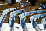 Slides at water park in the San Fernando Valley, CA