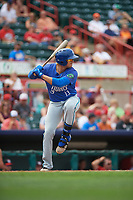 Hartford Yard Goats third baseman Josh Fuentes (13) at bat during a game against the Erie SeaWolves on August 6, 2017 at UPMC Park in Erie, Pennsylvania.  Erie defeated Hartford 9-5.  (Mike Janes/Four Seam Images)