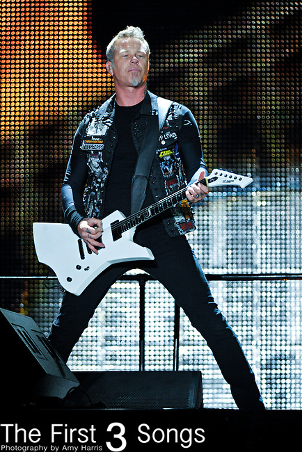 James Hetfield of Metallica performs during The Voodoo Experience at City Park in New Orleans, Louisiana.
