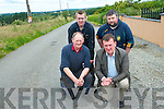 Residents of Bounard, Gneeveguilla are calling on Kerry County Council to resurface the local road. .Front L-R Dan O'Keeffe and Cllr John Sheahan .Back L-R Padraig O'Connor and Moss O'Keeffe.