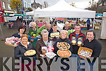 Pictured at the Farmers Market in Listowel on Friday, from left: Caroline Rigney (Rigney's Farmhouse), Pauline Finucane (Pauline's Vintage Cakes), Thomas O'Connor (Manna), Ella O'Sullivan (Ella's Home Baking), Willie Lenihan (Willie's Hot Rolls), Robert Mahony (The Lane Cottage), Olga Demery (Olga's Fresh Home Baking), Sean Daly (Daly's Veg), Stephen Neilings (Pióg Pies), Maurice Hannon (O'Hannáin Gluten and Wheat Free Baking).