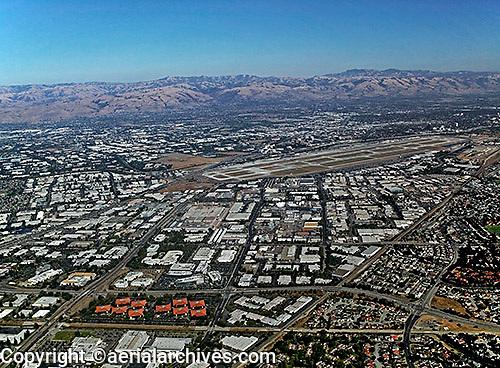 aerial photograph Santa Clara, San Clara county, California
