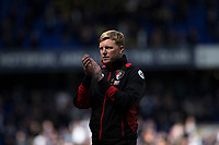 Bournemouth manager Eddie Howe claps the fans at full time of the Premier League match between Tottenham Hotspur and Bournemouth at White Hart Lane, London, England on 15 April 2017. Photo by Mark  Hawkins / PRiME Media Images.