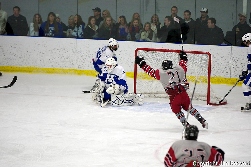 21 Jan 12: Duluth East vs. Minnetonka  at Pagel Arena in Minnetonka, MN.  This game is part of Hockey Day Minnesota 2012.