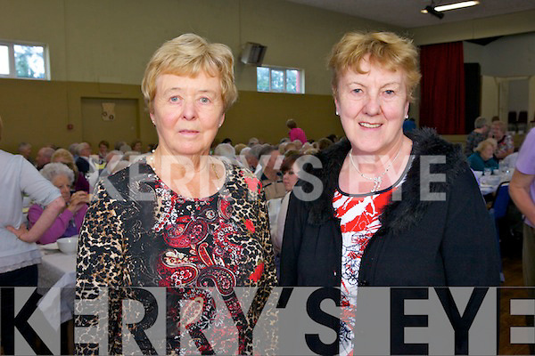 Mary fleming and Maisie McCarthy from Currow enjoying Positive aging Day in Knocknagoshel Community Centre on Thursday.