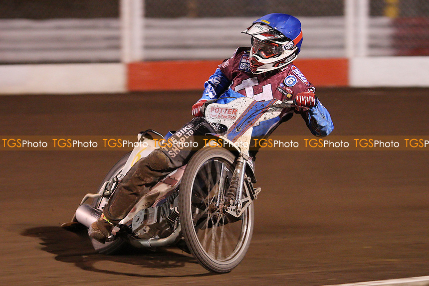 Paul Hurry of Lakeside Hammers - Lakeside Hammers vs Belle Vue Aces, Elite League Speedway at the Arena Essex Raceway, Purfleet - 30/04/10 - MANDATORY CREDIT: Rob Newell/TGSPHOTO - Self billing applies where appropriate - 0845 094 6026 - contact@tgsphoto.co.uk - NO UNPAID USE.