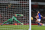 Arsenal's Theo Walcott scoring his sides second goal<br /> <br /> Barclays Premier League- Arsenal vs Leicester City  - Emirates Stadium - England - 10th February 2015 - Picture David Klein/Sportimage