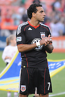 D.C. United forward Dwayne De Rosario (7). D.C. United defeated The Vancouver Whitecaps FC 4-0 at RFK Stadium, Saturday August 13 , 2011.