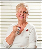 BNPS.co.uk (01202 558833)<br /> Pic: PhilYeomans/BNPS<br /> <br /> Proud family - Sheila Scott with her fathers Military Medal found on the internet.<br /> <br /> A nine-year-old girl's school project has led her family to find her war hero great-grandfather's gallantry medal they knew nothing about.<br /> <br /> Elizabeth Turner asked her grandmother Sheila Scott for help with her homework on World War Two and was told about a late relative who fought in Europe.<br /> <br /> James Angel was a modest man who rarely spoke about his experiences of war, including<br /> winning the Military Medal for one incredibly heroic action.<br /> <br /> Sapper Angel put himself in the line of fire when Allied soldiers were pinned down by Germans as they tried to cross the Rhine in Germany in March 1945.<br /> <br /> With great risk to his own life, he drew enemy fire away from his comrades by engaging them with his Bren gun and allowed the British to locate and silence the Germans.<br /> <br /> It is believed that after the war Mr Angel sold his Military Medal to help provide for his seven children.<br /> <br /> His family knew he once had a 'special medal' but had no idea what it was or was for until Elizabeth began her school project two weeks ago.<br /> --