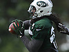 Calvin Pryor #25 of New York Jets intercepts a pass during coverage drills in team training camp at Atlantic Health Jets Training Center in Florham Park, NJ on Thursday, Aug. 4, 2016.