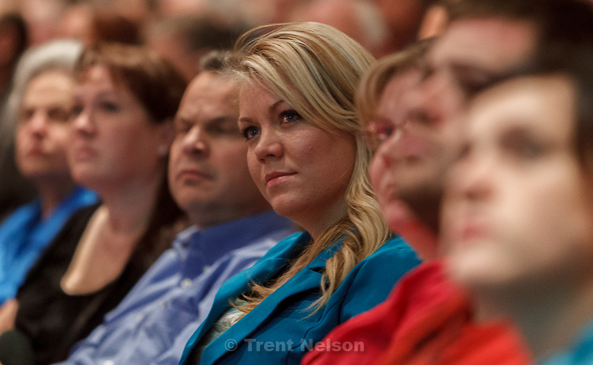 Trent Nelson  |  The Salt Lake Tribune.Elissa Wall attends a community meeting regarding the United Effort Plan (UEP) trust Friday November 30, 2012 in Colorado City.