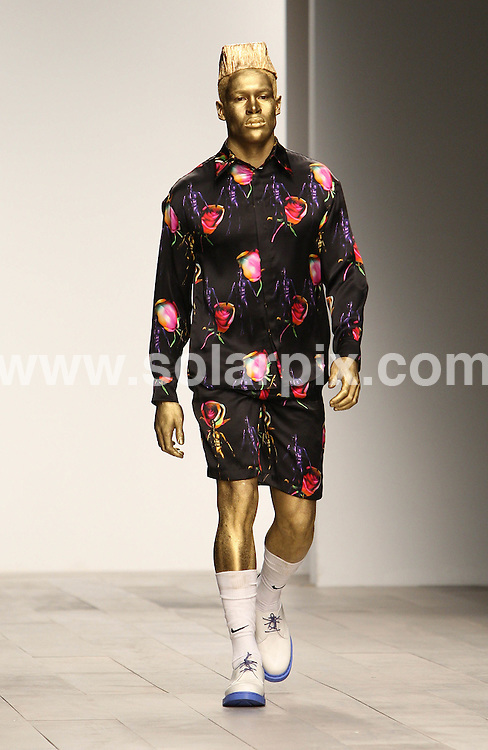 **ALL ROUND PICTURES FROM SOLARPIX.COM** **WORLDWIDE SYNDICATION RIGHTS** Caption: Cassette Playa collection during London Fashion Week A/W 2011 at Somerset House in London, UK. 23 February 2011 This pic: Cassette Playa catwalk show JOB REF: 12884 MLW DATE: 23_02_2011 **MUST CREDIT SOLARPIX.COM OR DOUBLE FEE WILL BE CHARGED** **MUST AGREE FEE BEFORE ONLINE USAGE** **CALL US ON: +34 952 811 768 or LOW RATE FROM UK 0844 617 7637**