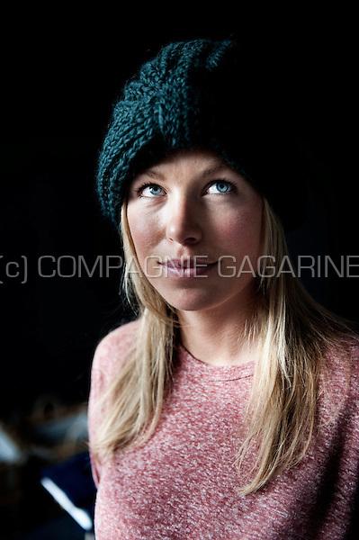 Ellen Kegels, Flemish fashion designer and founder of the LN Beanies knitwear brand (Belgium, 26/07/2012)