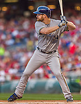 22 August 2015: Milwaukee Brewers first baseman Adam Lind in action against the Washington Nationals at Nationals Park in Washington, DC. The Nationals defeated the Brewers 6-1 in the second game of their 3-game weekend series. Mandatory Credit: Ed Wolfstein Photo *** RAW (NEF) Image File Available ***