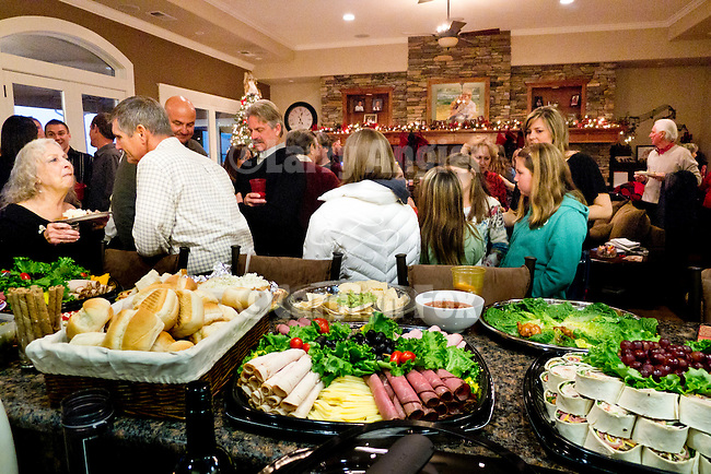 Food and family are enjoyed during the Serbian Community's celebration of Christmas on January 7 at the Armstrong home. ..Christmas is observed using the Julian Calendar and is celebrated on January 7.