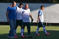 SAO PAULO, 05 DE JUNHO DE 2013 - TREINO PALMEIRAS - O jogador Wendel se machuca durante treino do Palmeiras no CT da Barra Funda, na tarde desta quarta feira, 05, região oeste da capital. (FOTO: ALEXANDRE MOREIRA / BRAZIL PHOTO PRESS)