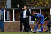 Romford manager Glenn Tamplin during Romford vs Coggeshall Town, BetVictor League North Division Football at the Brentwood Centre on 16th November 2019