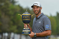 Dustin Johnson (USA) holds the trophy for winning the World Golf Championships, Mexico, Club De Golf Chapultepec, Mexico City, Mexico. 2/24/2019.<br /> Picture: Golffile | Ken Murray<br /> <br /> <br /> All photo usage must carry mandatory copyright credit (© Golffile | Ken Murray)
