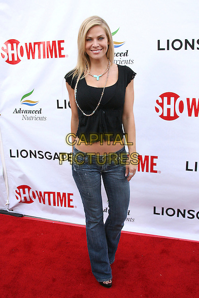 "CAROL GROW.""Weeds"" Season 2 Premiere held at The Egyptian Theatre, Hollywood, California, USA..July 19th, 2006.Photo: Zach Lipp/AdMedia/Capital Pictures.Ref: ZL/ADM.full length black top necklace jeans denim.www.capitalpictures.com.sales@capitalpictures.com.© Capital Pictures."